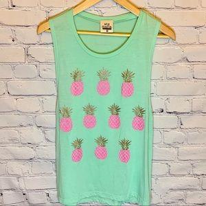 ATX MAFIA Pineapple mint green tank top